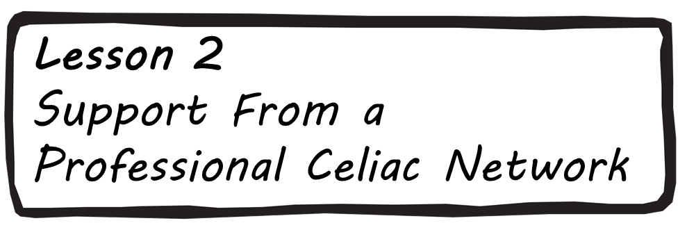 Lesson 2 - Support from a professional Celiac Network